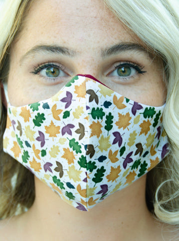 Autumn Leaf Foliage Cotton Washable Adult Face Mask