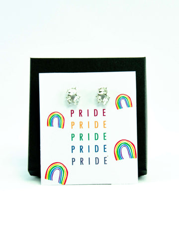 PRIDE LGBTQ+ Rainbow Jewel Stud Earrings Gift