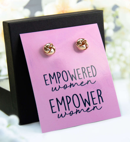 Empowered Women Empower Women Gold Earrings