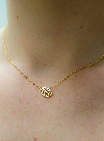 Jillian Necklace  (14K Gold/Sterling Silver)