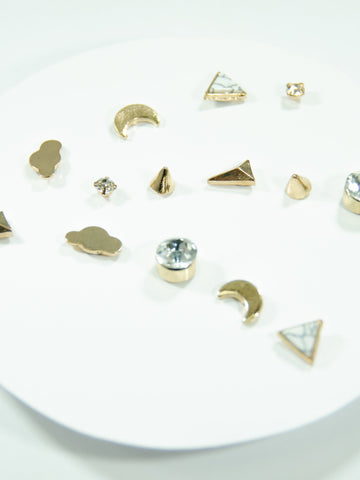 Shooting Star Mix + Match  Stud Earring Set (7 Pack)