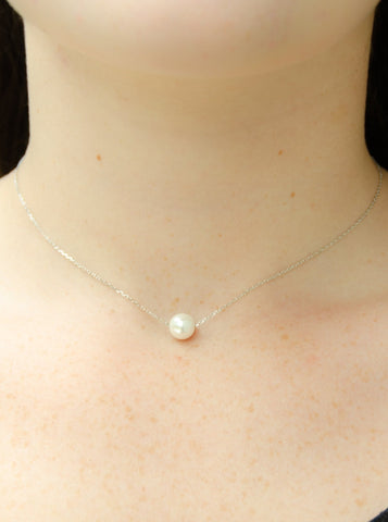 Amanda Sterling Silver Pearl Necklace