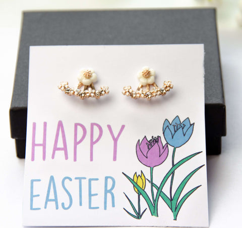 Happy Easter Floral Two-Piece Earring Gift