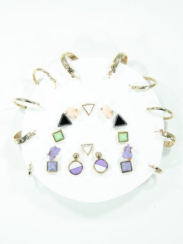 Rainbow Mix + Match Earring Stud Set (13 Pack)