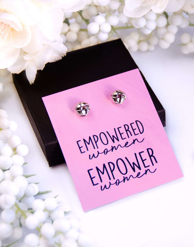 Empowered Women Empower Women Silver Earrings