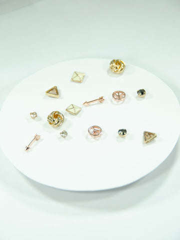 Shooting Star Mix + Match Stud Earrings Set (7 Pack)