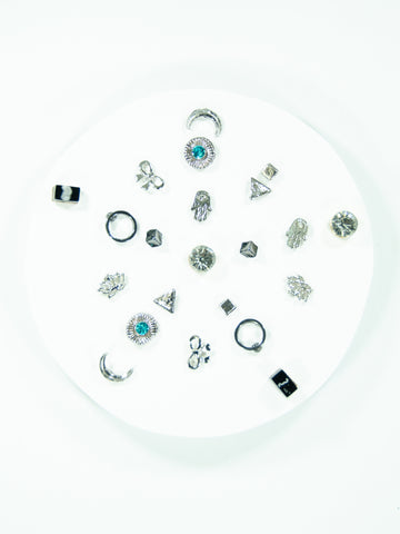 Snowflake Mix + Match Earring Stud (11 Pack)