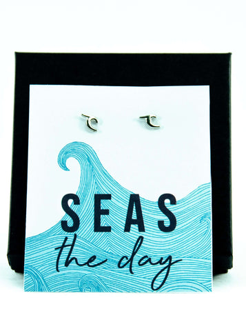 Seas The Day Wave Earrings