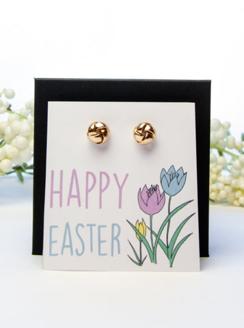 Happy Easter Gold Earring Gift