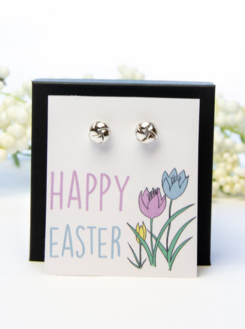 Happy Easter Silver Earring Gift