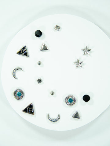 Crescent Mix + Match Stud Earring 8-Pack