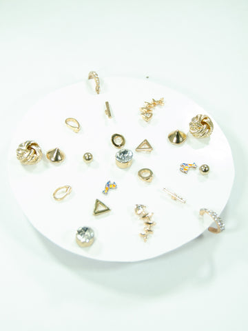 Snowflake Mix + Match Stud Earrings Set (11 Pack)