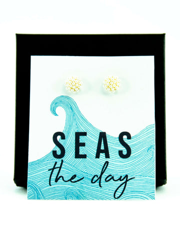 Seas The Day Pearl Earrings