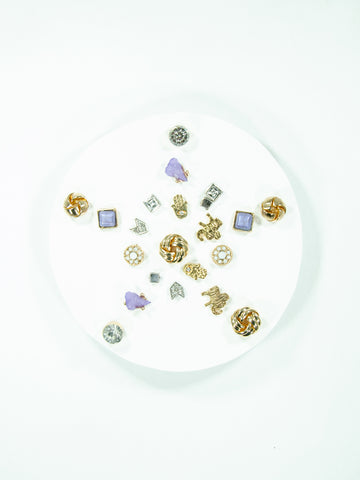 Snowflake Mix + Match Stud Earring Set (11 Pack)