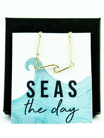 Seas the Day Wave Necklace
