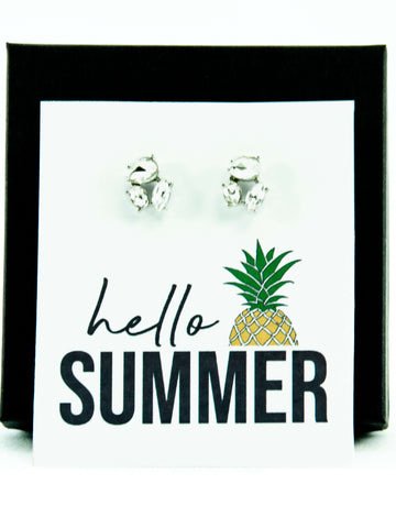 Hello Summer Jewel Stud Earrings