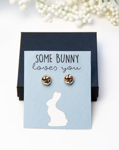 Some Bunny Loves You Gold Earring Gift