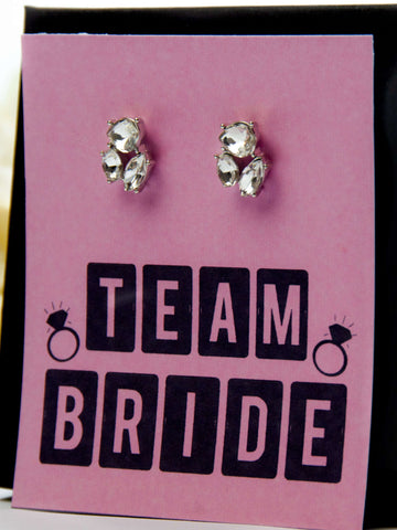 Team Bride Bachelorette Party Favor Jewel Earrings Gift