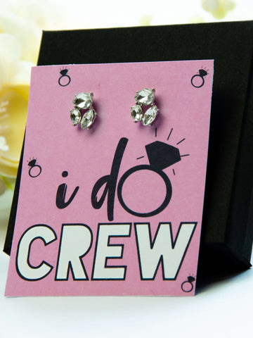 I Do Crew Bachelorette Party Favor Jewel Earrings Gift