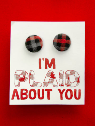 I Am Plaid About You Earrings