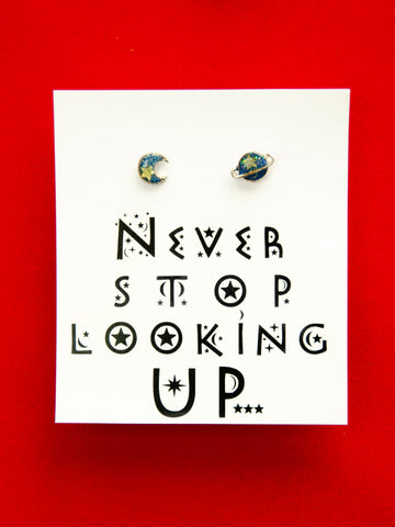 Never Stop Looking Up Earrings