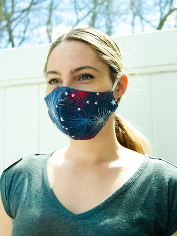 Firework Adult Face Mask