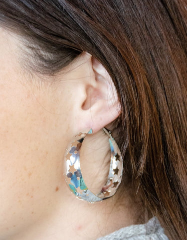 Starry Night Earring- Silver