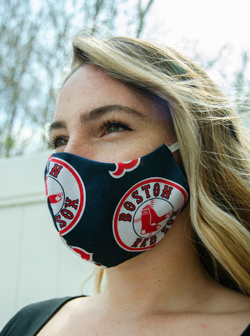 Boston Red Sox Cotton Washable Adult Face Mask