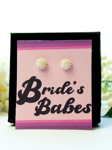 Bride's Babes Bachelorette Party Favor Pearl Earrings