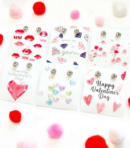 Happy Valentine's Day Earring Six Piece Gift Set