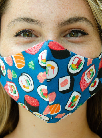 Sushi Design Cotton Washable Adult Face Mask