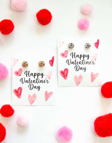 Happy Valentine's Day Earring Four Piece Gift Set
