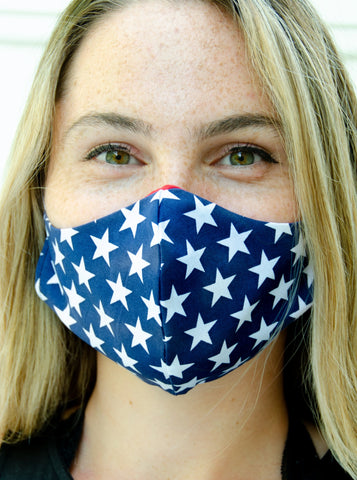 Red White and Blue Adult Face Mask