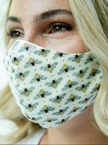 Bumble Bee Cotton Washable Adult Face Mask