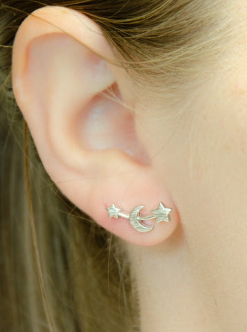 Hanna Stud Earrings (Silver)