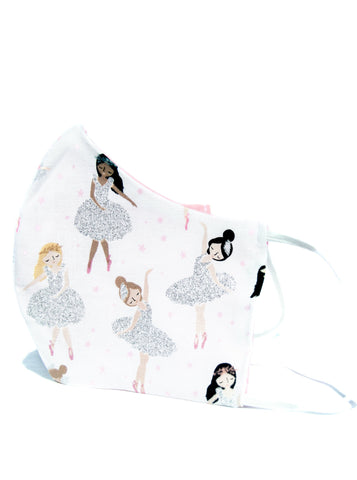 Kids Youth Ballerina Cotton Face Mask