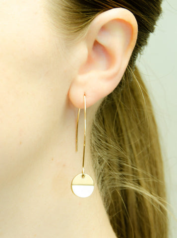 Swept Away Earrings-Pearl