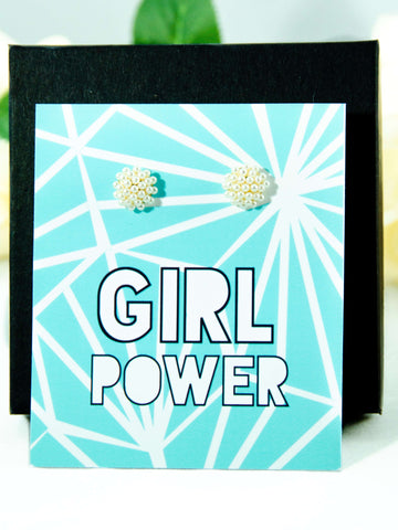 Girl Power Pearl Earrings