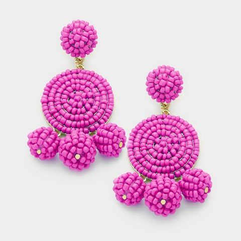 Let's Tango Earrings (Magenta)