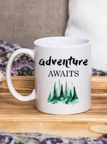 Wanderlust Adventure Awaits Coffee Mug