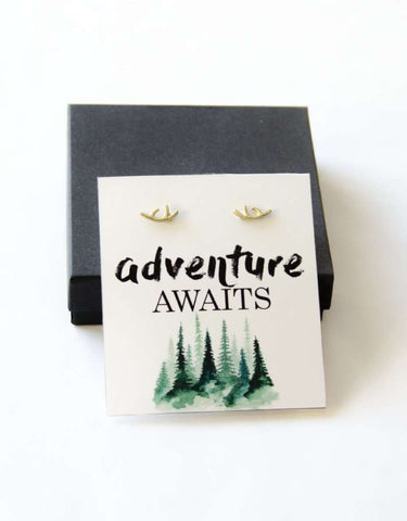 Adventure Awaits  Wanderlust Gold Deer Earrings