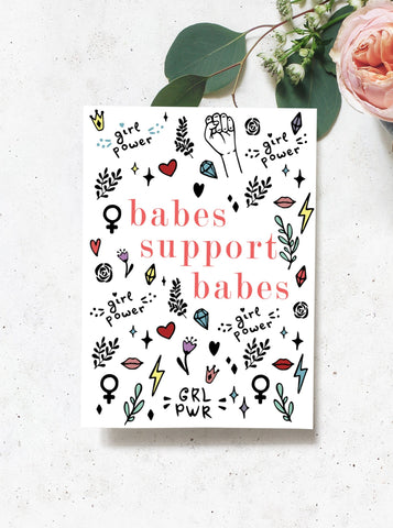 Babes Support Babes Greeting Card Set