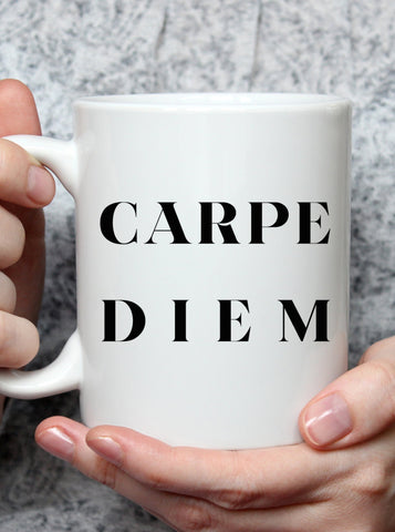 Carpe Diem Seize the Day Coffee Mug Gift