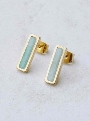 Ladies First Stud Earrings-Aqua