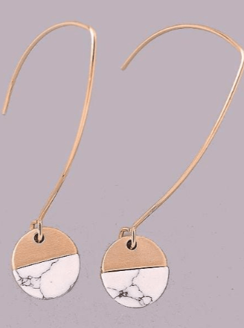 Swept Away Earrings - Marble