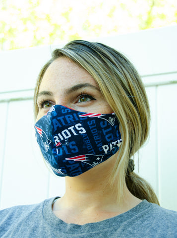 New England Patriots Cotton Washable Adult Face Mask