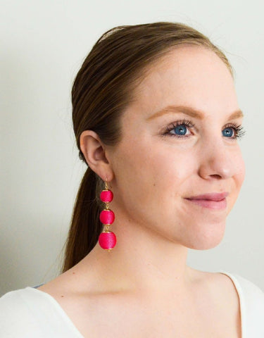 Dreaming Big Earrings (Pink - Small)