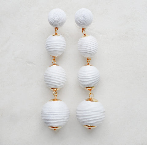 Dreaming Big Earrings (White)