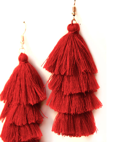 Fiesta Fun Earrings Red