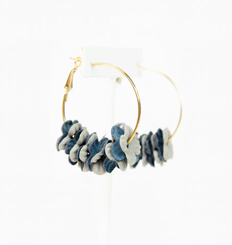 Garden Party Earrings (Grey/Blue)